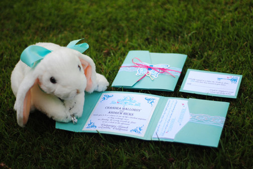 Invitations and Ring Pillow
