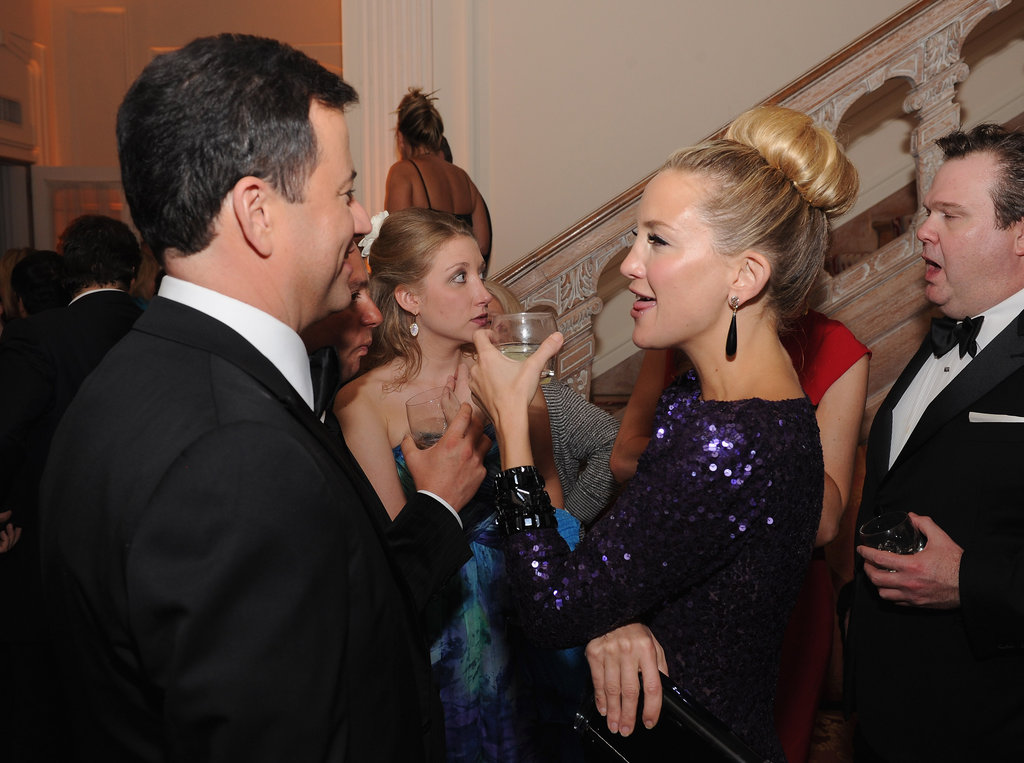Kate Hudson and Jimmy Kimmel chatted at the White House Correspondant's Dinner.