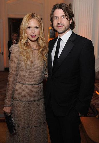 Rachel Zoe posed with husband Roger Berman at the White House Correspondant's Dinner.