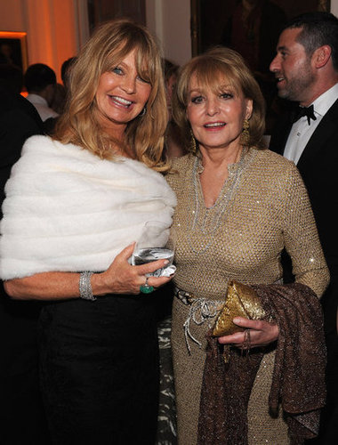 Goldie Hawn and Barbara Walters smiled for the camera at the White House Correspondant's Dinner.