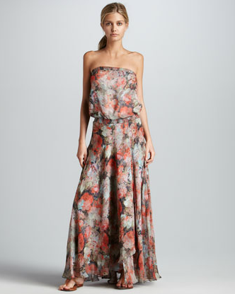 """""""In the way of effortless seasonal dresses, this one might be queen. I love the slouchy shape and that I could wear it just as well with heels to a wedding as I could on a lazy Sunday with flat sandals."""" — Hannah Weil, assistant editor   Haute Hippie Strapless Floral-Print Maxi Dress ($595)"""