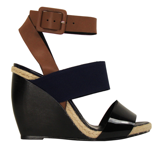 """""""The black and navy color combo of these wedges keeps them sophisticated, but the small sliver of espadrille gives a wink to the beach."""" — Brittney Stephens, assistant editor.  Pierre Hardy Leather and Canvas Block Wedge ($595)"""