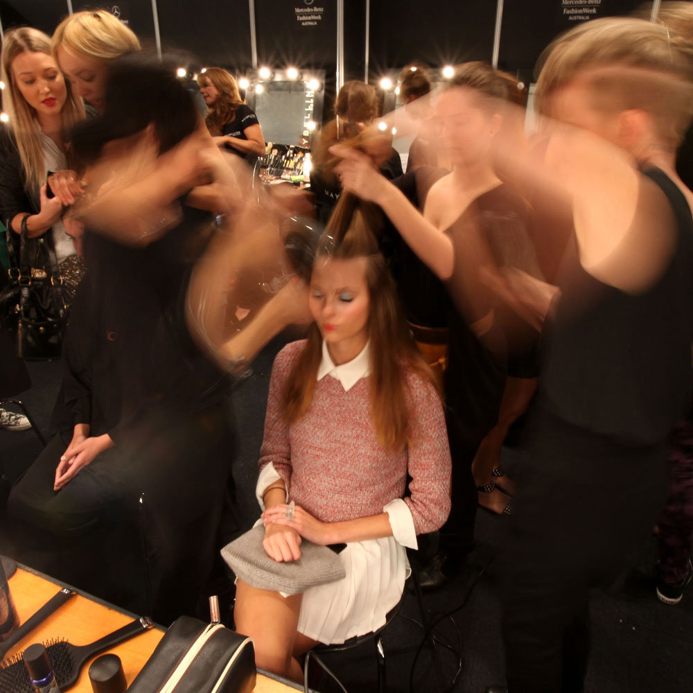 The scene backstage at Alice McCall.
