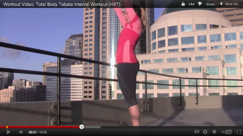 Workout Video: Total Body Tabata Interval Workout (HIIT)