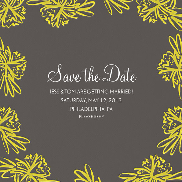 wedding save the date ecards