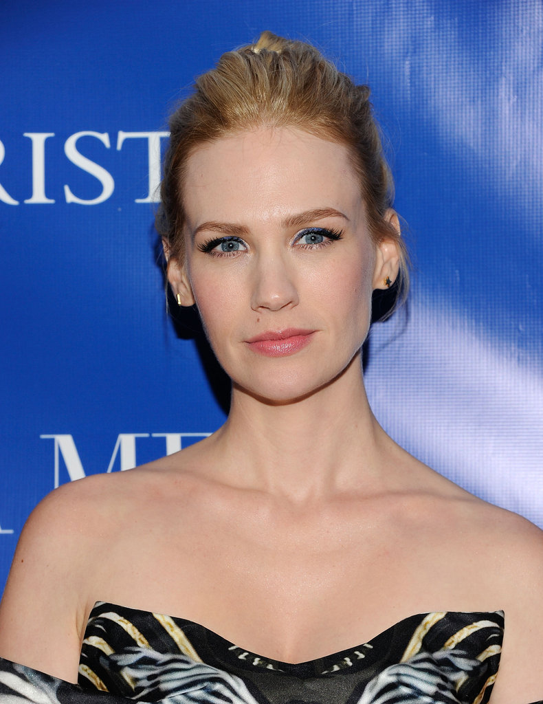 January Jones attended a screening of La Revolution Bleue in NYC.