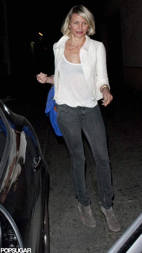 Cameron Diaz went to dinner with Gwyneth Paltrow and Chris Martin.