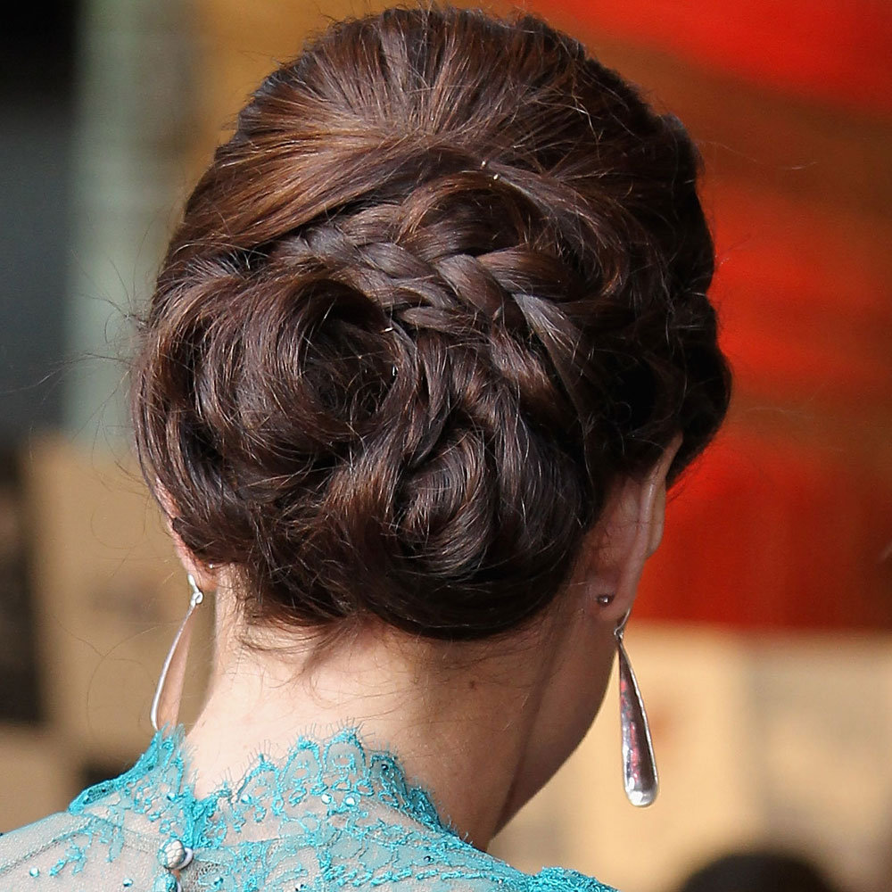 See Kate Middleton's Pretty Braided Up 'Do From All Angles