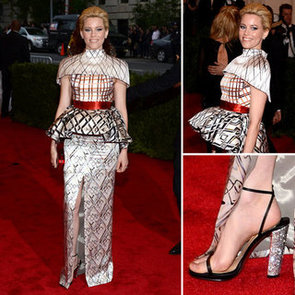 Pictures of Elizabeth Banks in Mary Katrantzou Dress on the Red Carpet at the 2012 Met Costume Institue Gala