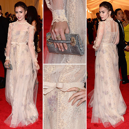 Lily Collins at Met Gala 2012