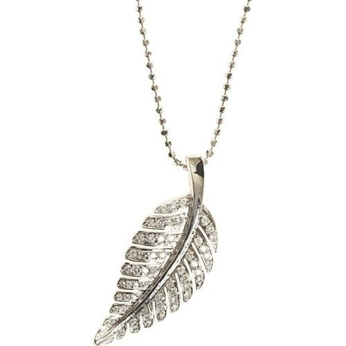 Jennifer Meyer Diamond Small Leaf Pendant Necklace | Barneys New York