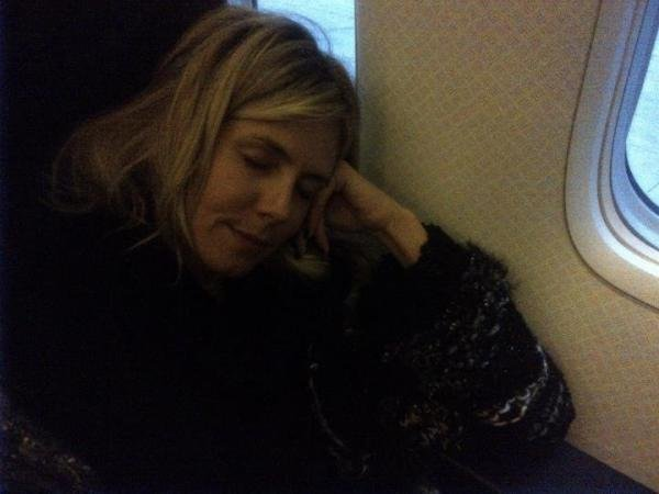 Heidi Klum was feeling sleepy on the plane ride home from NYC after the Met Gala.  Source: Instagram user heidiklum