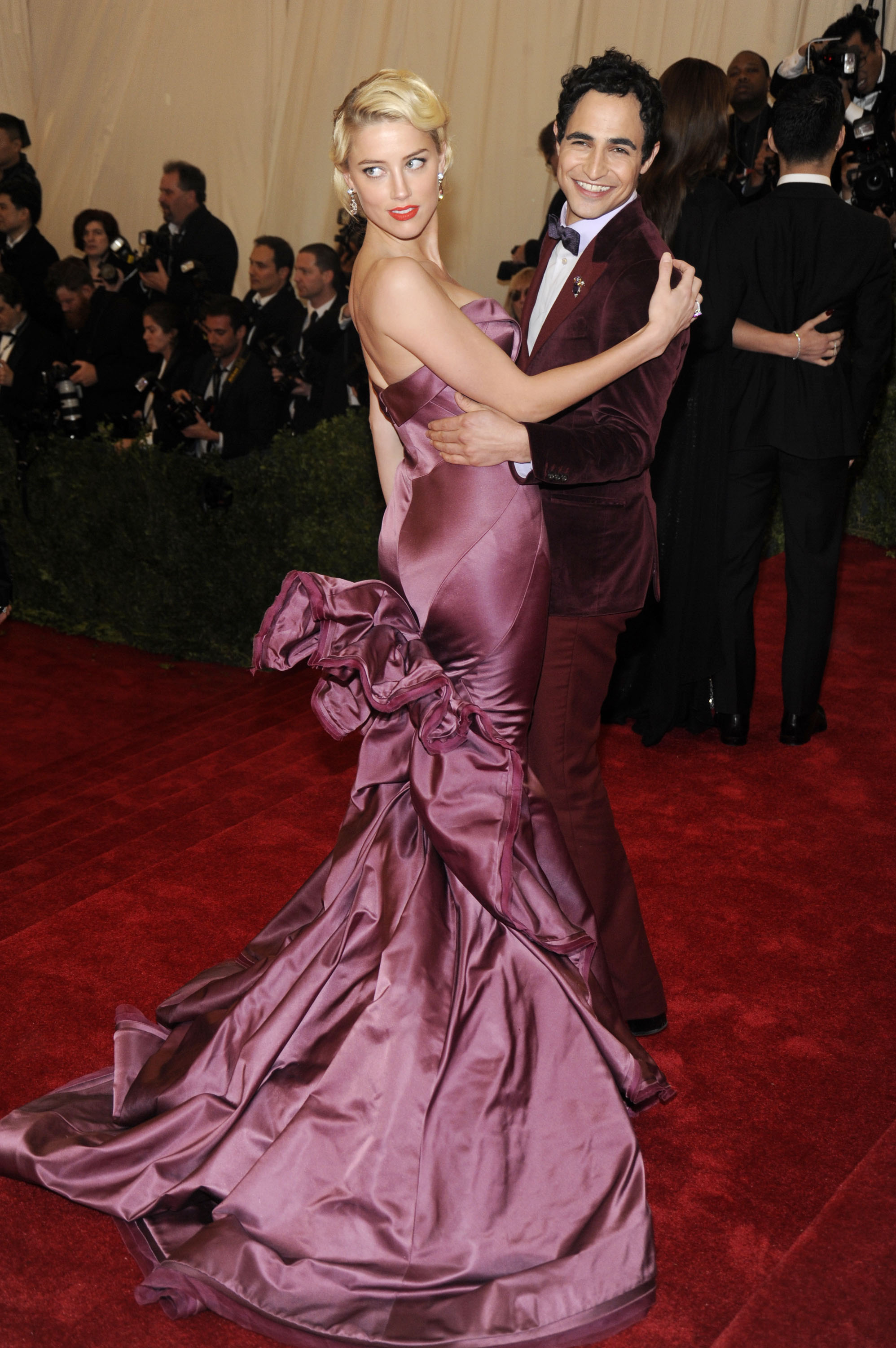 Amber Heard and Zac Posen