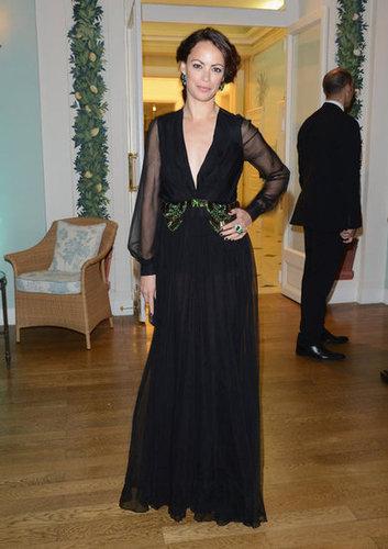 Bérénice Bejo looked ultraelegant in a black gown with sheer sleeves.