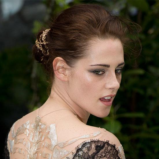 Kristen Stewart's Gold Chain Updo