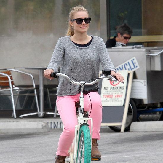 Celebs Riding Bikes