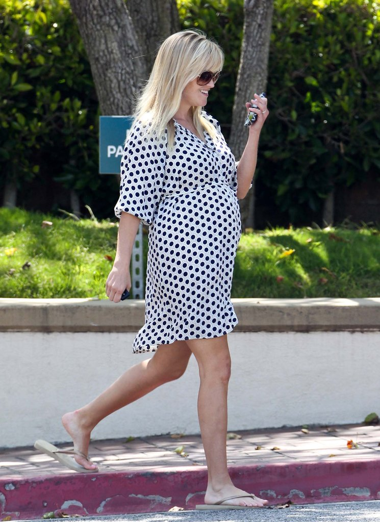 Reese Witherspoon picked up her children from school in LA.