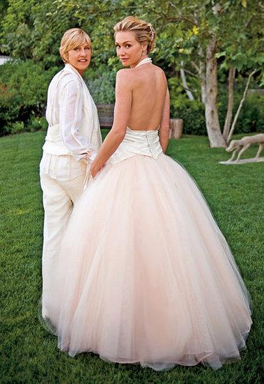 Ellen DeGeneres and Portia de Rossi: Pretty in Pink