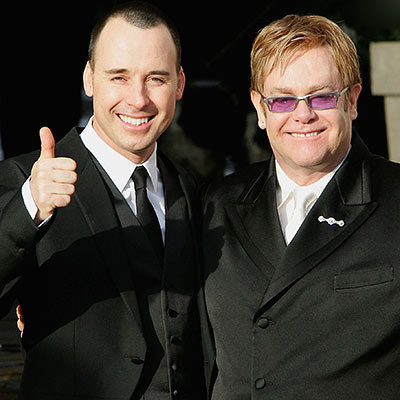 Elton John and David Furnish Show Their Pride