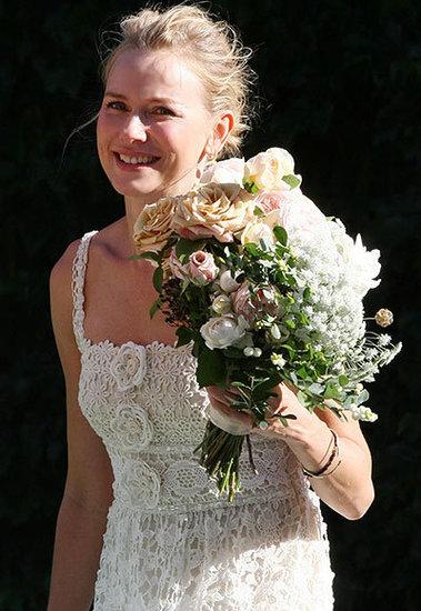 Naomi Watts Arrives in White
