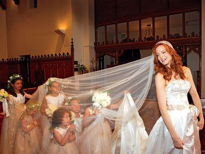 Marcia Cross's Flower Girl Peek-a-Boo