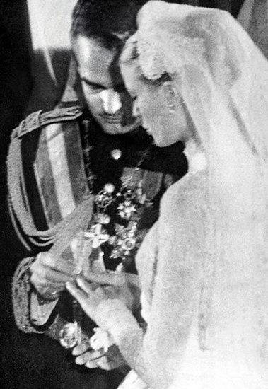 Prince Rainier III of Monaco and Grace Kelly Exchange Rings