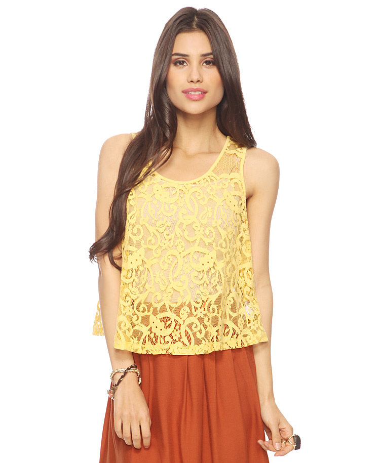 This breezy eyelet tank is a festival season staple.  Forever 21 Floral Eyelet Top ($16)