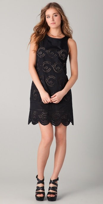 We love how sexy eyelet can look in black; consider this your new Springtime LBD.  Marc by Marc Jacobs Palmetto Eyelet Dress ($378)