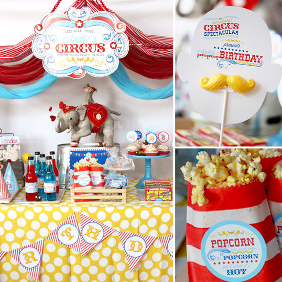 A Festive Circus-Themed Third Birthday Party