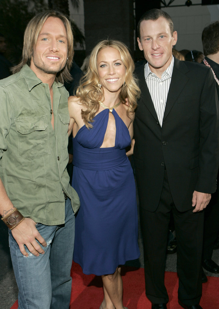 Keith Urban, Sheryl Crow and Lance Armstrong hung out at the 2004 Billboard Music Awards.
