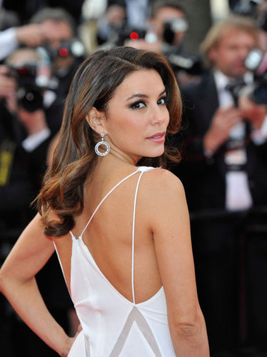 Brilliant Chopard earrings were the finishing touch.