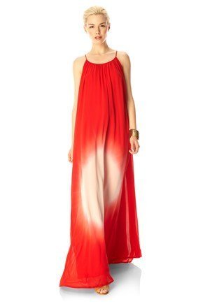 How gorgeous is this red-hued gradient effect? For more shape, cinch this dress with a warm brown belt. French Connection Sun Gaze Maxi Dress ($388)