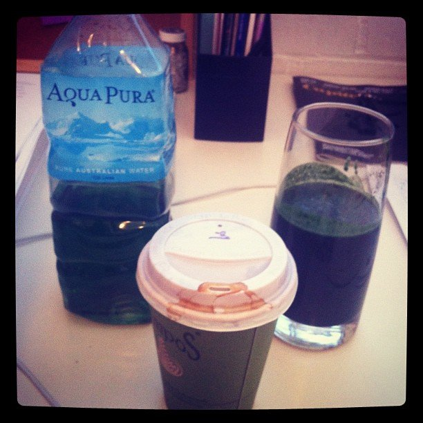 Our weekend ed Alison is committed to the green juice cause.