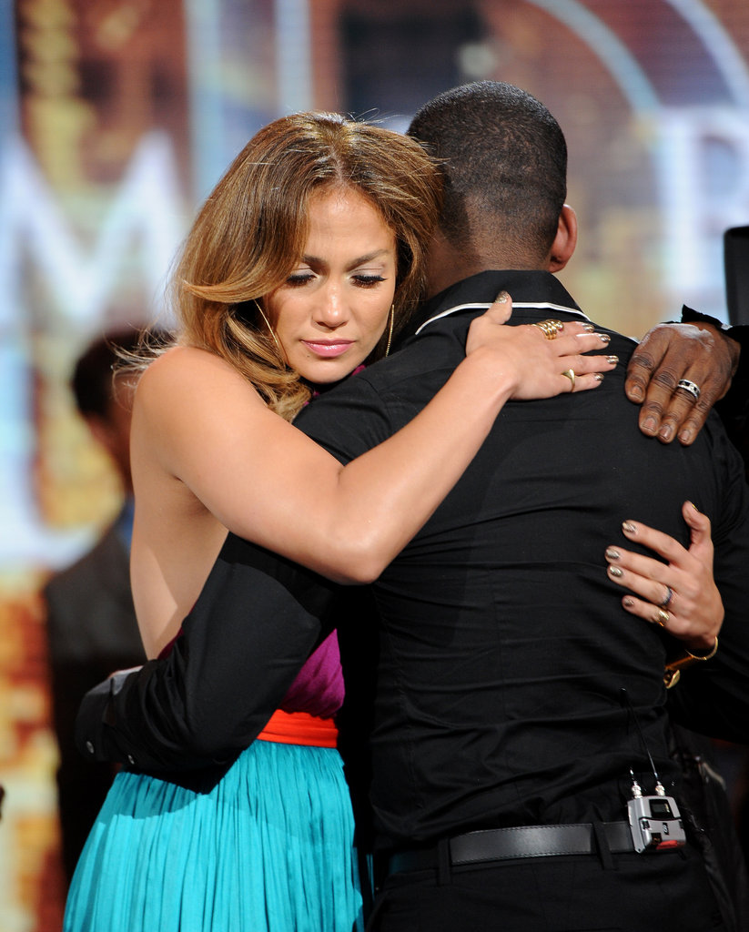 Jennifer Lopez hugged Joshua Ledet after he was eliminated from American Idol.