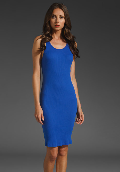 Finish this sexy tank dress with your favorite heels and earrings for an evening out.  Market Ribbed Carmen Maxi Dress ($38)