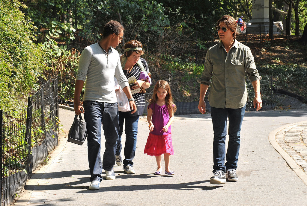 Tom Cruise took kids Connor, Isabella, and Suri to Central Park during an NYC trip in September 2010.