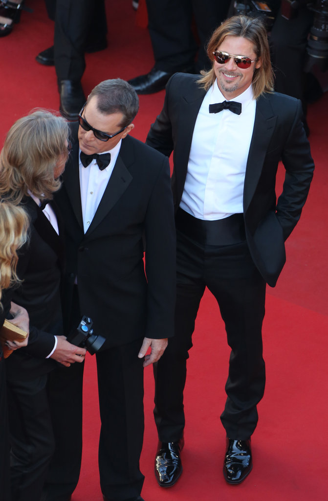Brad Pitt Gets Sexy in a Tux For His Cannes Film Festival Premiere