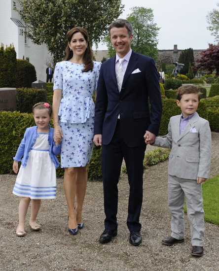 Princess Mary and Her Family Dress Up For a Royal Christening