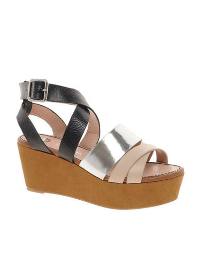 These colorblocked platforms are both trendy and wearable. They'll step up the style of any outfit.  River Island Strapped Platform Sandals ($53)
