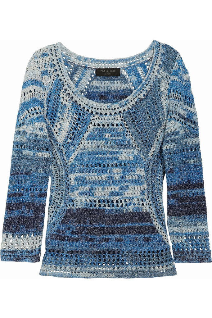 Rag & Bone was one of the designers to bring crochet back to life on the Spring '12 runways, so it's no surprise that their space-dyed crochet pieces are high on our Summer shopping list.  Rag & Bone Jasmin Crocheted Sweater ($395)