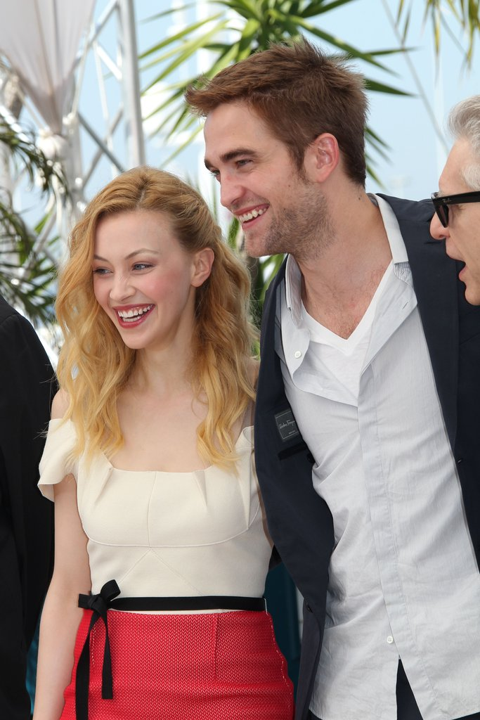 Robert Pattinson linked up with Sarah Gadon at the Cosmopolis photocall in Cannes.