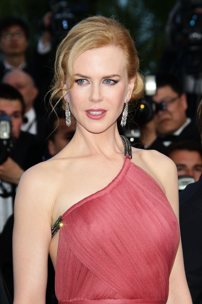 Check out the gorgeous asymmetrical neckline on Nicole Kidman's Lanvin gown.