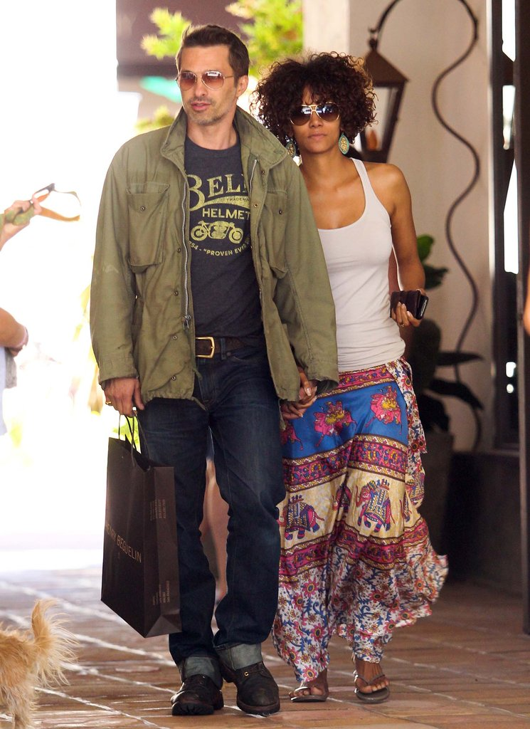 Halle Berry and Olivier Martinez enjoyed a day of shopping in Malibu, CA, in May 2012.