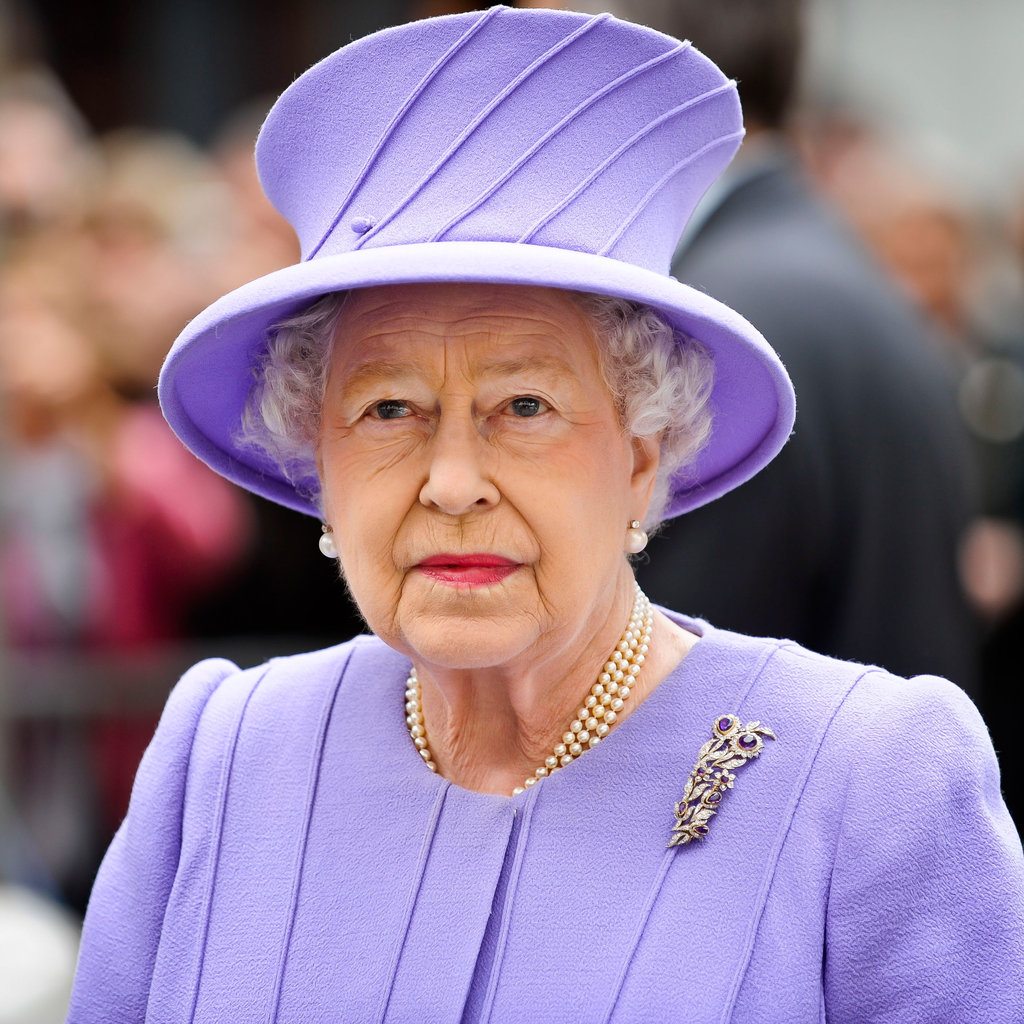 Pretty in purple, Queen Elizabeth II visited Exeter City Centre on May 2.