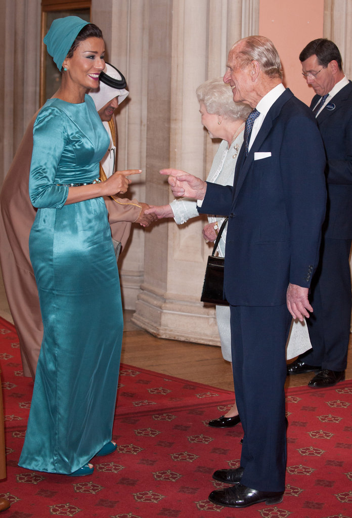 Photo of Sheikha Moza & her friend Royalty  Queen Elizabeth II - London