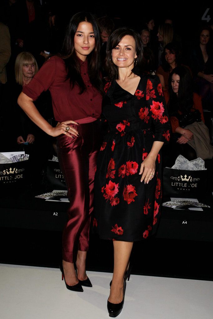 With model Jessica Gomes at Little Joe Woman's RAFW show in May 2011.