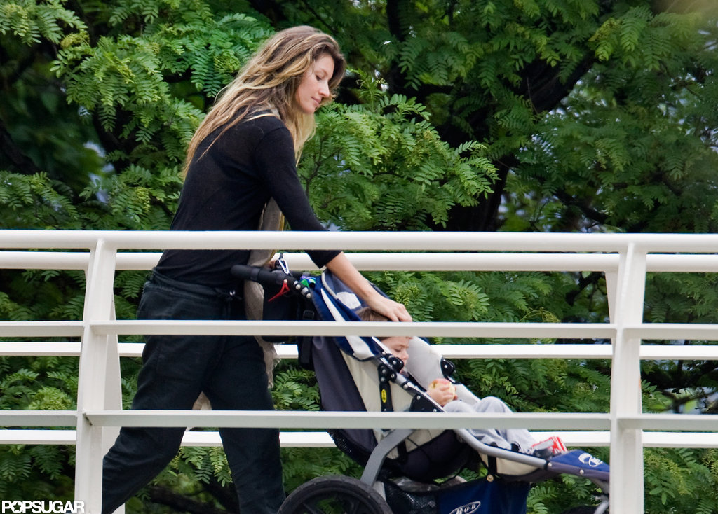 Gisele took Ben to a park in Boston.