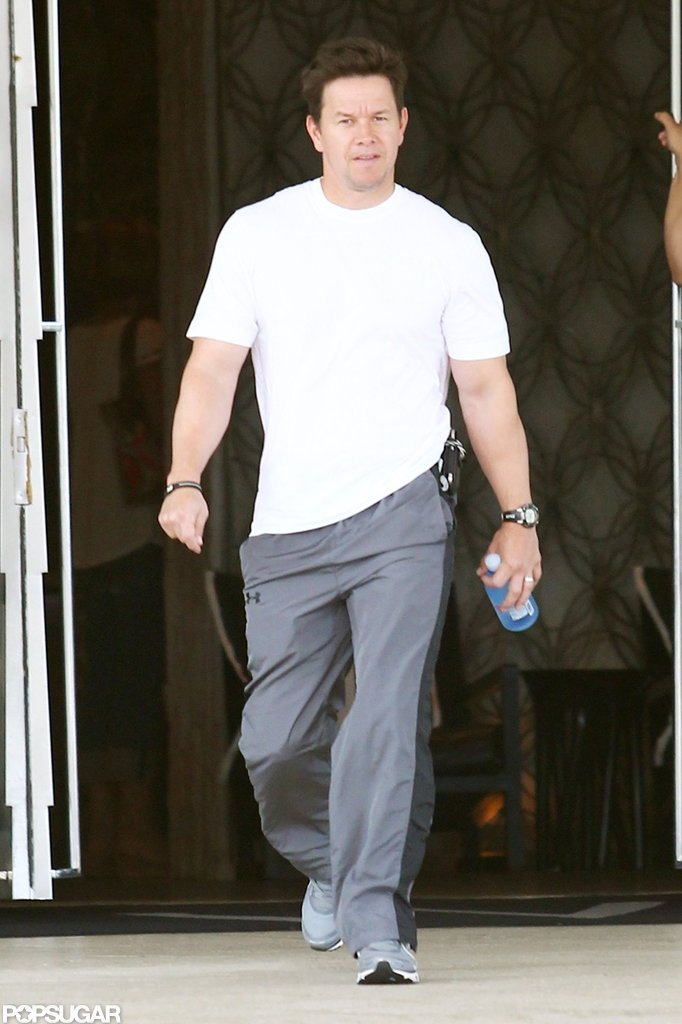 Mark Wahlberg walked out of his Miami hotel.