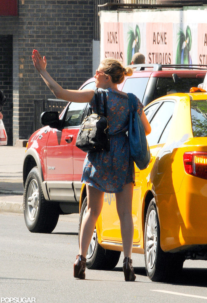 Scarlett Johansson Is on the Go in the Big Apple