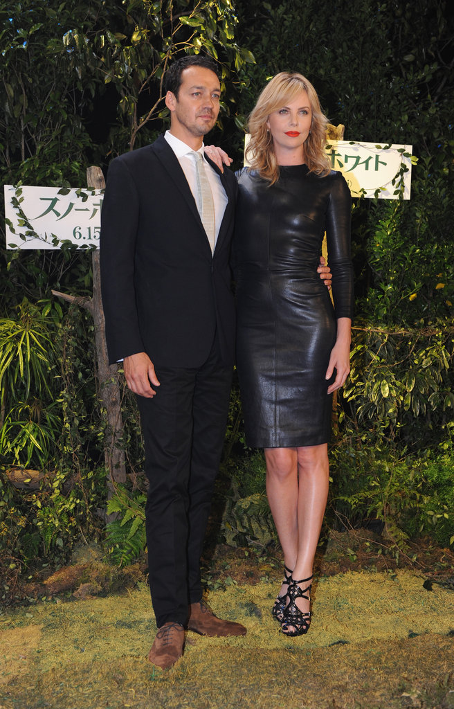 For the Snow White and the Huntsman Tokyo photo call, the starlet chose a sexy The Row leather dress and Dior sandals.